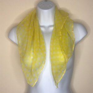 Vintage Polkadot sheer scarf